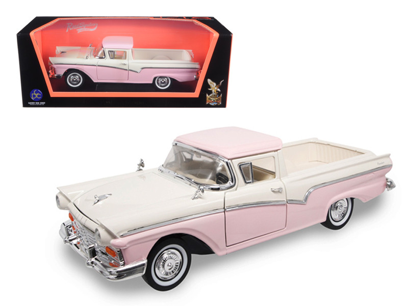 1957 Ford Ranchero Pickup Truck Pink 1/18 Diecast Model Road Signature 92208