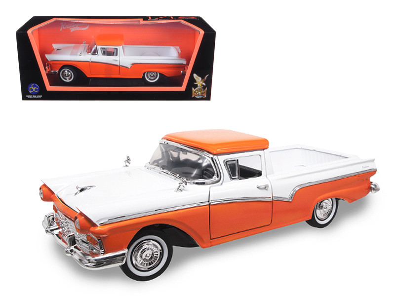 1957 Ford Ranchero Pickup Truck Orange 1/18 Diecast Model Car Road Signature 92208