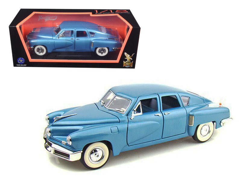 1948 Tucker Torpedo Blue 1/18 Diecast Model Car Road Signature 92268
