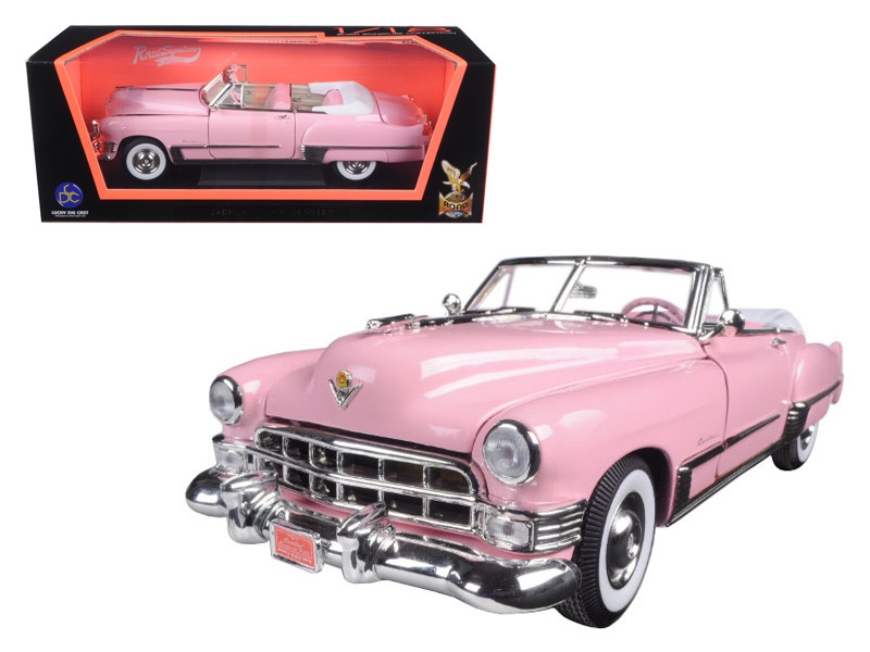 1949 Cadillac Coupe De Ville Convertible Pink 1/18 Diecast Model Car Road Signature 92308