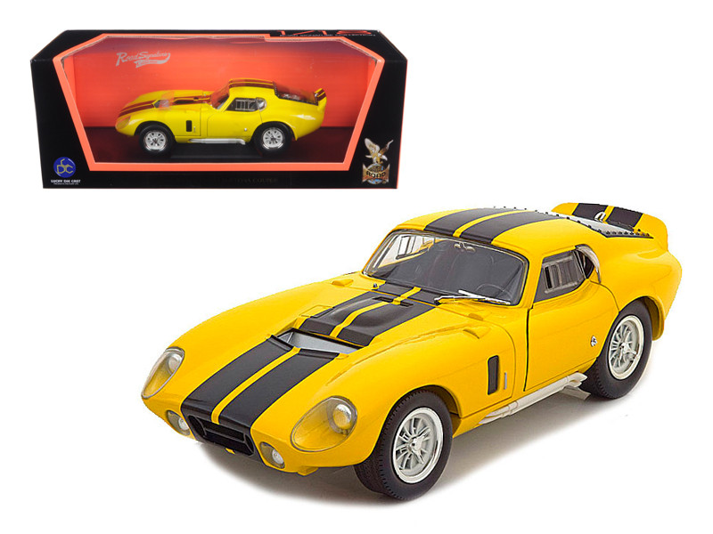 1965 Shelby Cobra Daytona Coupe Yellow 1/18 Diecast Model Car Road Signature 92408