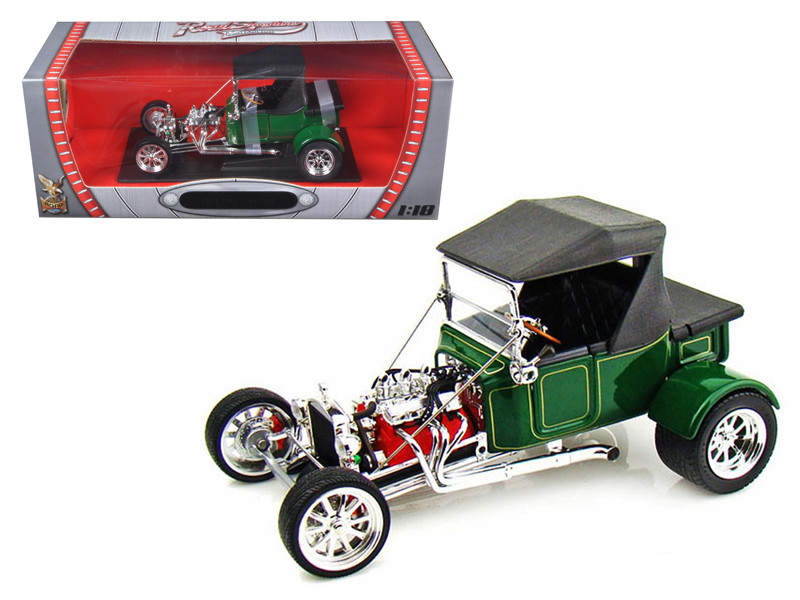 1923 Ford T-Bucket Soft Top Green 1/18 Diecast Model Car Road Signature 92829