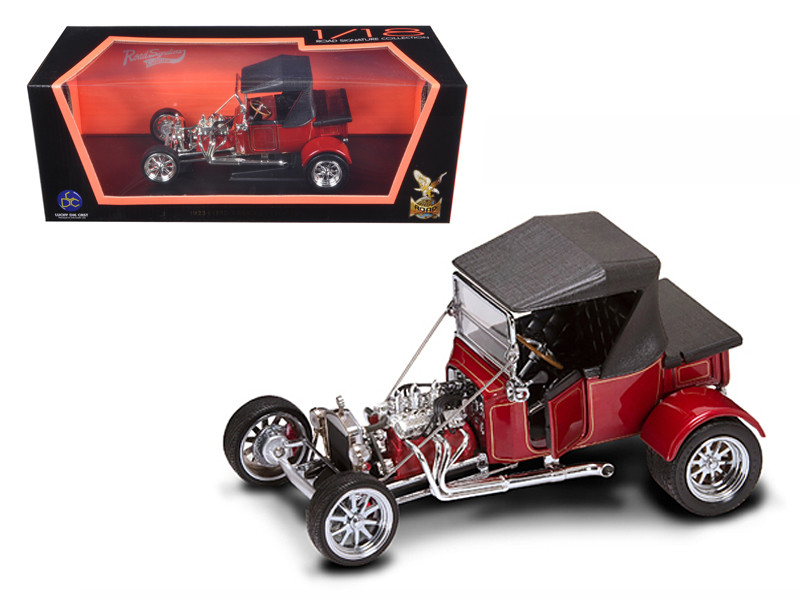 1923 Ford T-Bucket Soft Top Burgundy 1/18 Diecast Car Model Road Signature 92829