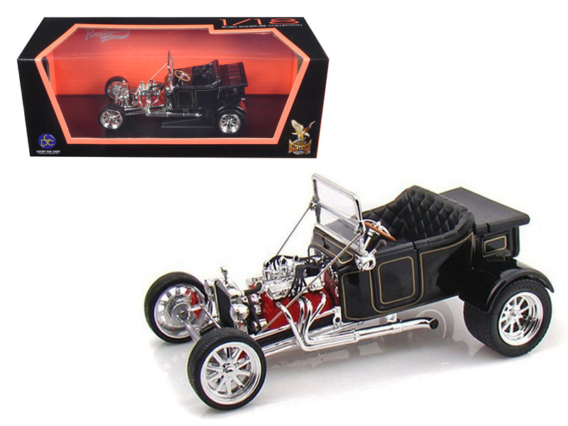 1923 Ford T-Bucket Roadster Black 1/18 Diecast Car Model Road Signature 92828
