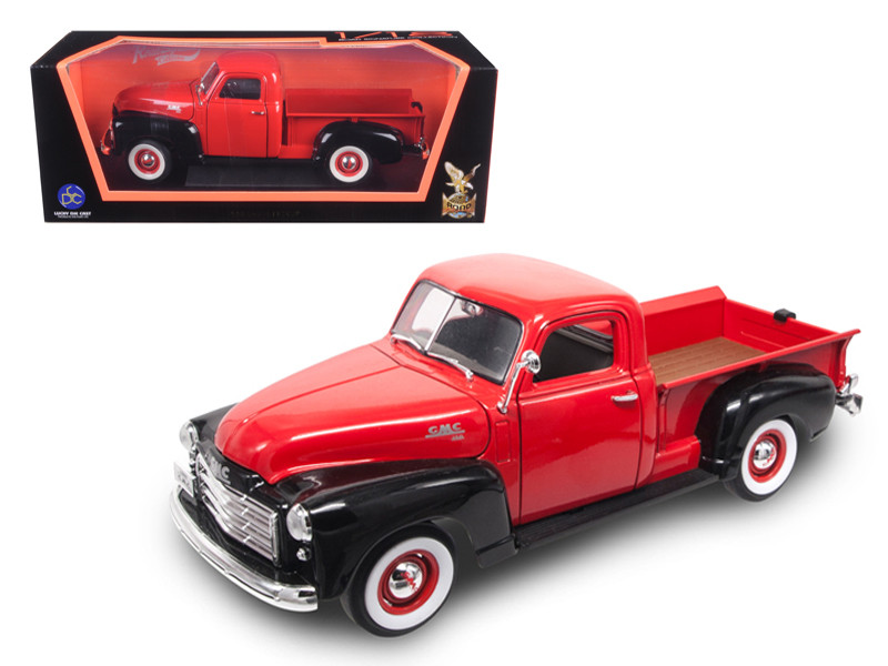 1950 GMC Pickup Truck Red/Black 1/18 Diecast Model Car Road Signature 92648