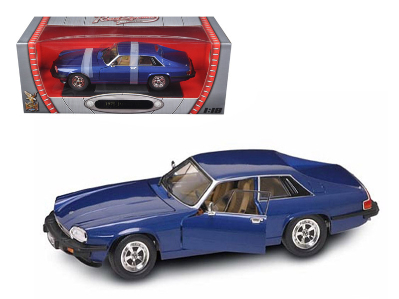 1975 Jaguar XJS Coupe Blue 1/18 Diecast Model Car Road Signature 92658