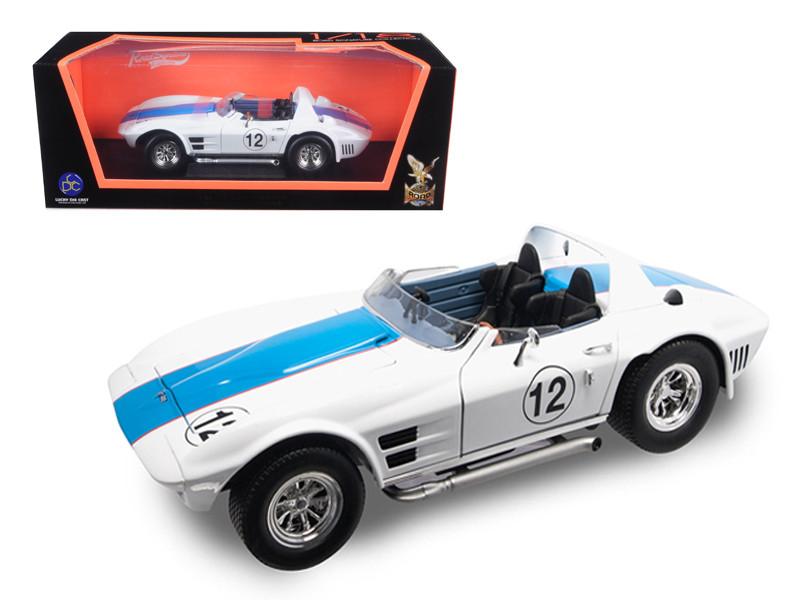 1964 Chevrolet Corvette Grand Sport Roadster #12 White 1/18 Diecast Model Car Road Signature 92698