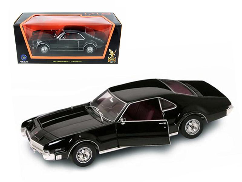 1966 Oldsmobile Toronado Black 1/18 Diecast Car Model Road Signature 92718