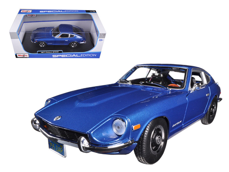 1971 Datsun 240Z Blue 1/18 Diecast Car Model Maisto 31170