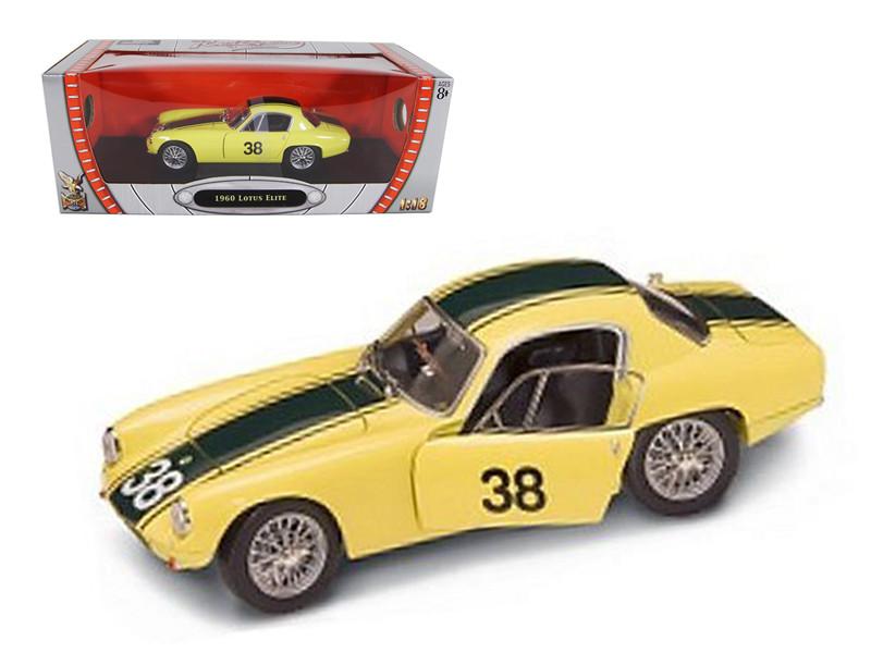 1960 Lotus Elite #38 Yellow 1/18 Diecast Car Road Signature 92769