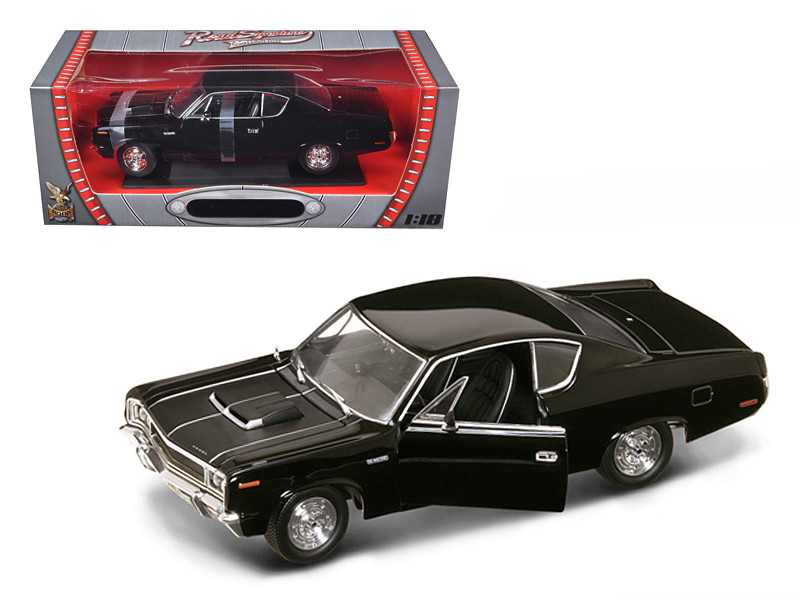 1970 AMC Rebel Black 1/18 Diecast Car Model Road Signature 92778