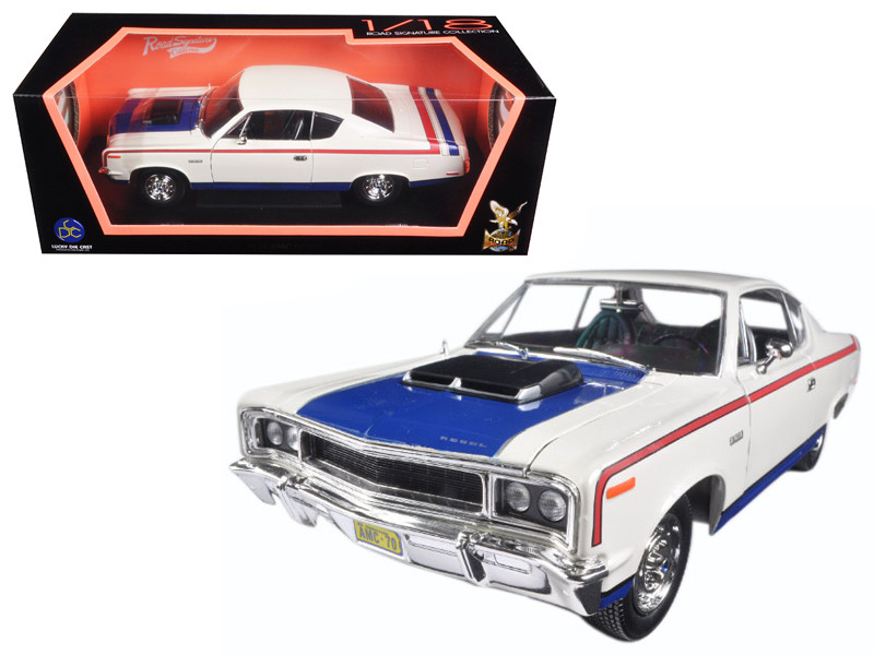 1970 AMC Rebel White 1/18 Diecast Model Car Road Signature 92778