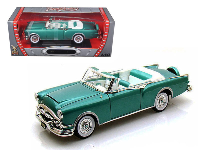1953 Packard Caribbean Green 1/18 Diecast Car Model Road Signature 92798