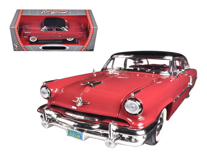 1952 Lincoln Capri Burgundy 1/18 Diecast Car Model Road Signature 92808