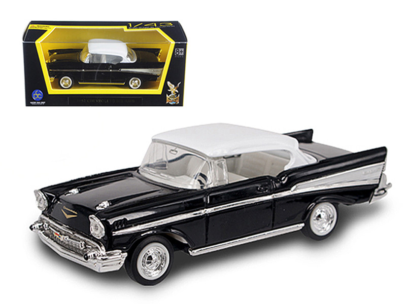 1957 Chevrolet Bel Air Black 1/43 Diecast Model Car Road Signature 94201