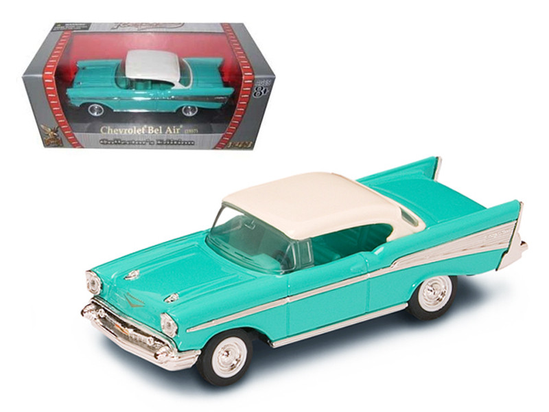 1957 Chevrolet Bel Air Turquoise 1/43 Diecast Model Car Road Signature 94201