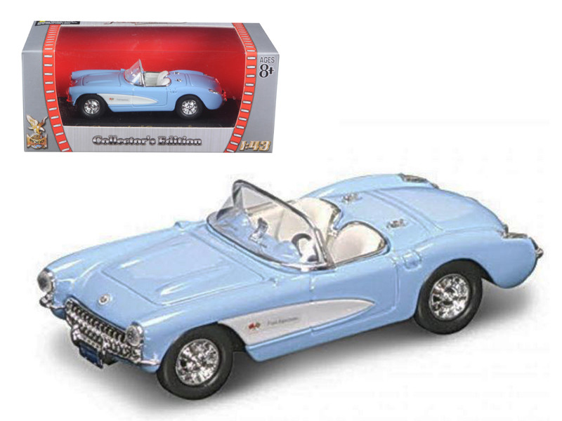 1957 Chevrolet Corvette Blue 1/43 Diecast Model Car Road Signature 94209