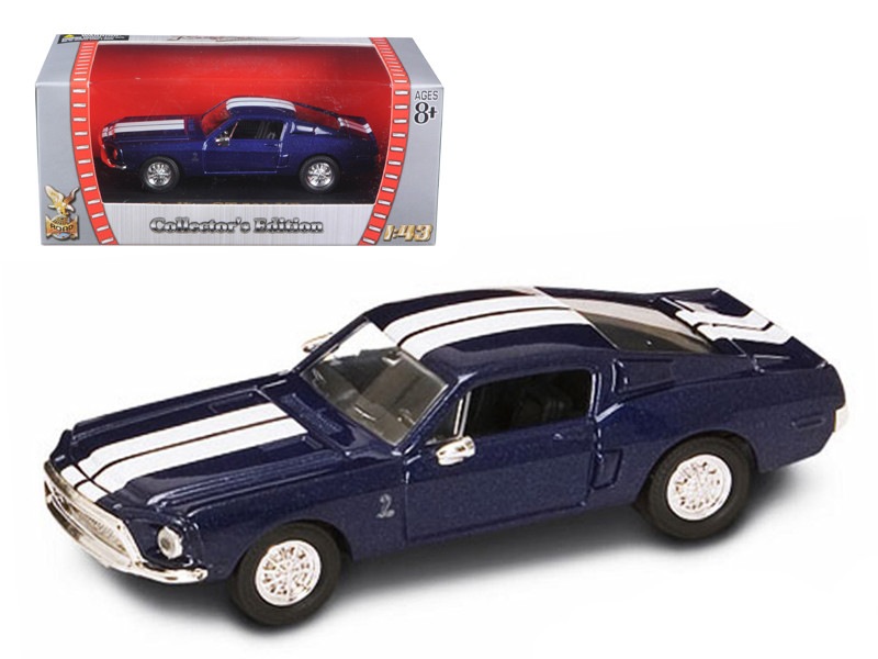 1968 Shelby GT 500 KR Blue 1/43 Diecast Model Car Road Signature 94214