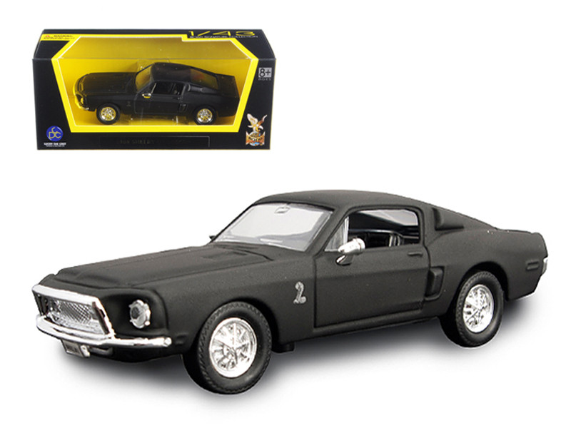 1968 Ford Shelby Mustang GT 500 KR Matt Black 1/43 Diecast Model Car Road Signature 94214