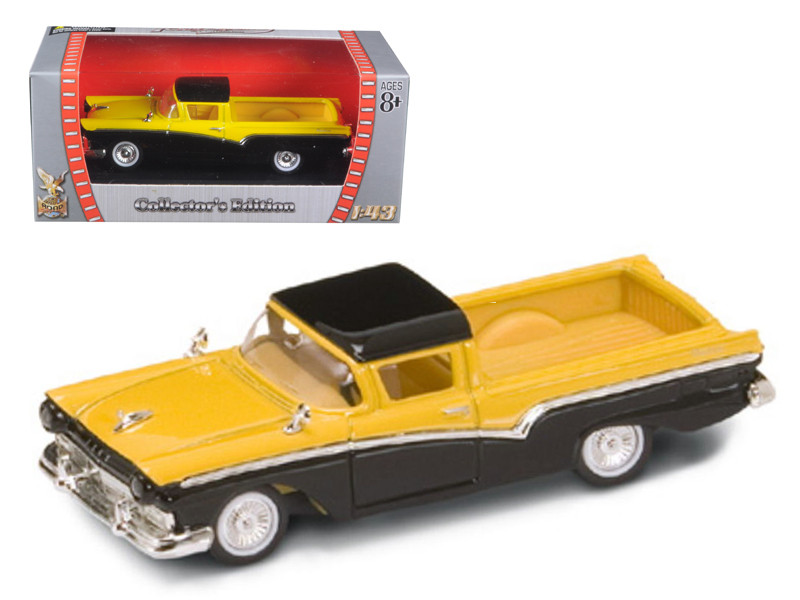 1957 Ford Ranchero Yellow/Black 1/43 Diecast Model Car Road Signature 94215