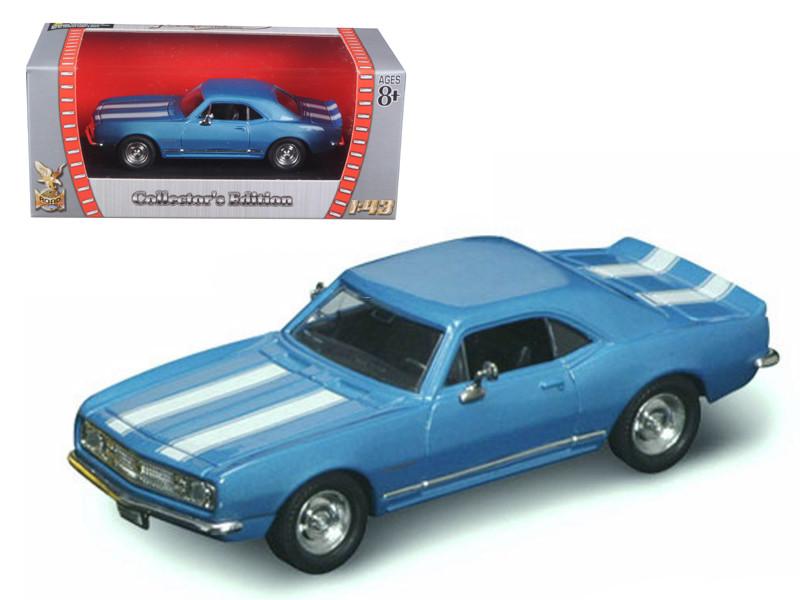 1967 Chevrolet Camaro Z-28 Blue 1/43 Diecast Model Car Road Signature 94216