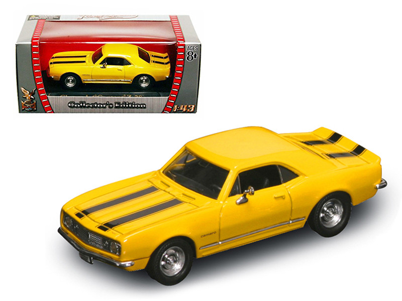 1967 Chevrolet Camaro Z-28 Yellow 1/43 Diecast Model Car Road Signature 94216