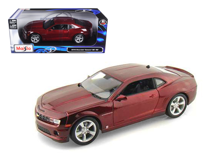 2010 Chevrolet Camaro SS RS Burgundy 1/18 Diecast Model Car Maisto 31173
