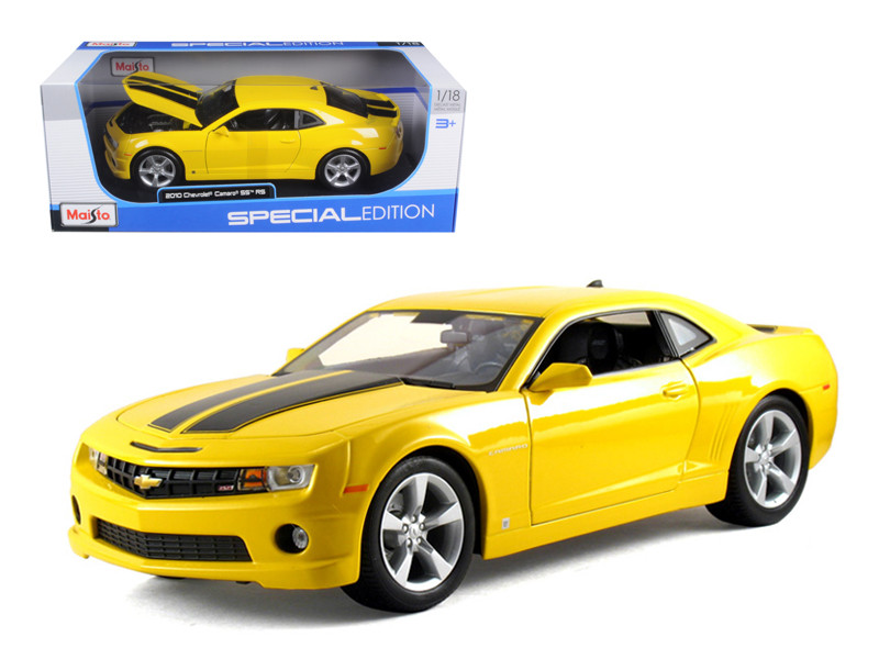 2010 Chevrolet Camaro SS RS Yellow 1/18 Diecast Model Car Maisto 31173