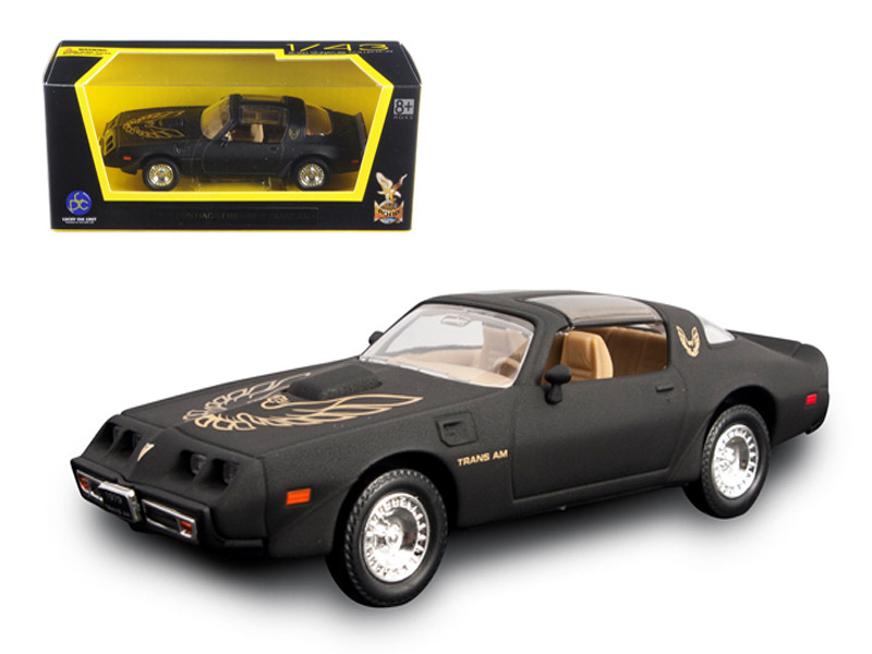 1979 Pontiac Firebird Trans Am Matt Black 1/43 Diecast Model Car Road Signature 94239