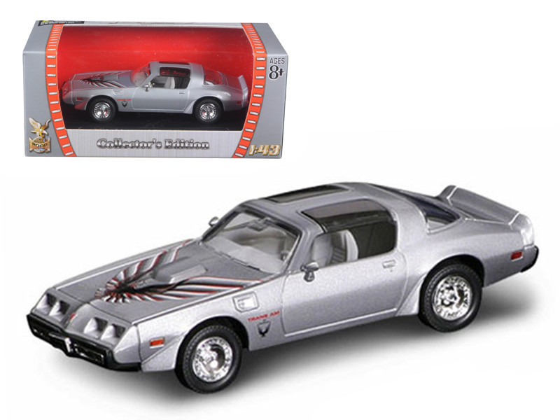 1979 Pontiac Firebird Trans Am Silver 1/43 Diecast Model Car Road Signature 94239