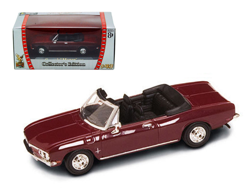 1969 Chevrolet Corvair Monza Burgundy 1/43 Diecast Model Car Road Signature 94241