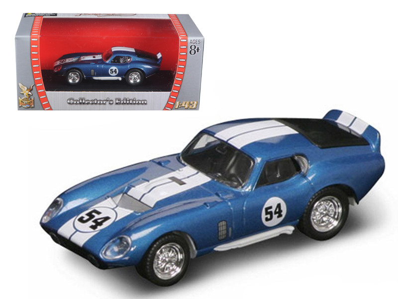 1965 Shelby Cobra Daytona #54 Blue 1/43 Diecast Model Car Road Signature 94242