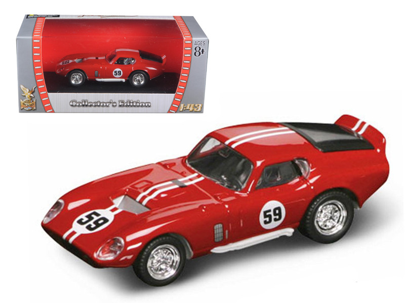 1965 Shelby Cobra Daytona #59 Red 1/43 Diecast Car Road Signature 94242