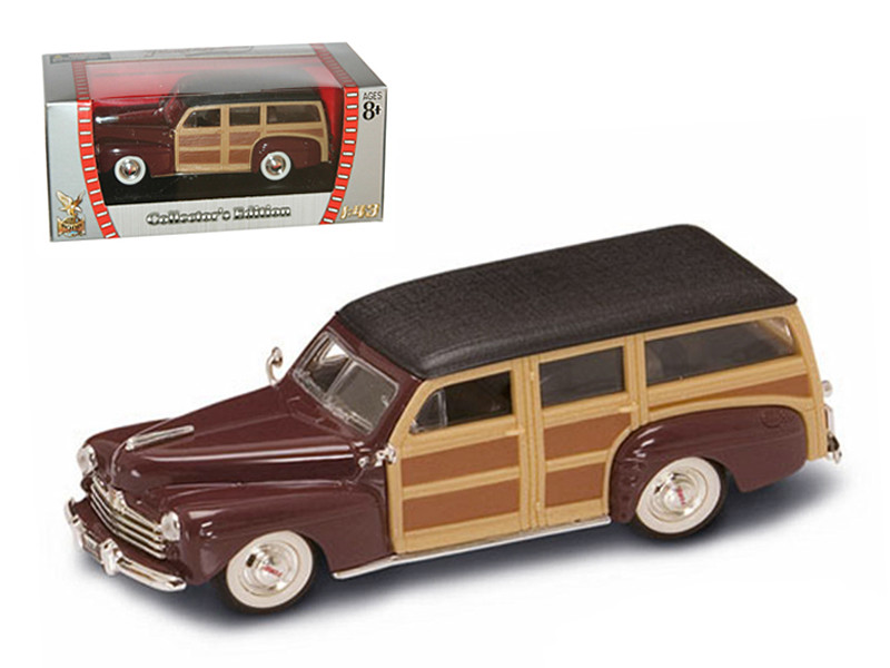 1948 Ford Woody Burgundy 1/43 Diecast Model Car Road Signature 94251