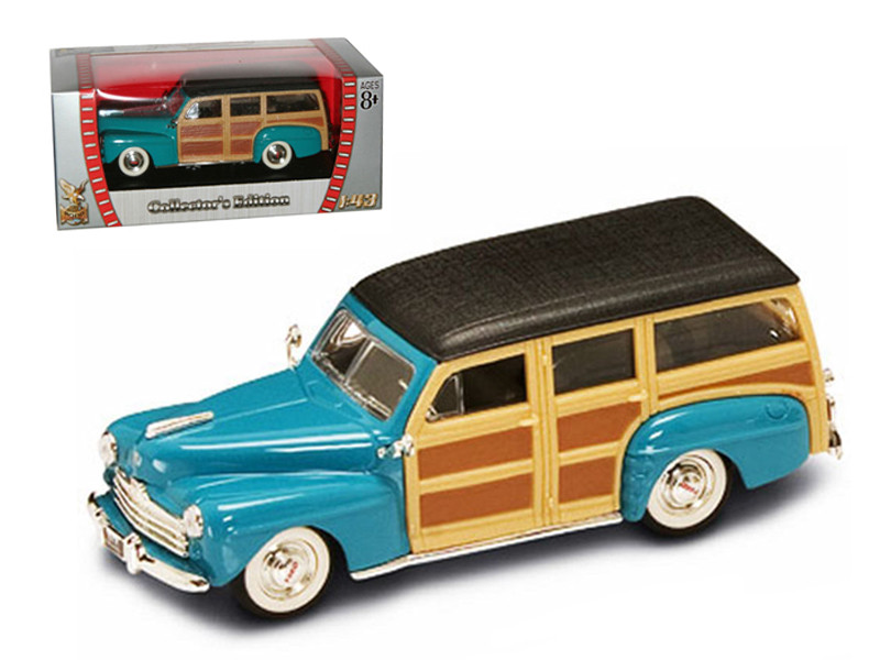 1948 Ford Woody Turquoise 1/43 Diecast Car Road Signature 94251