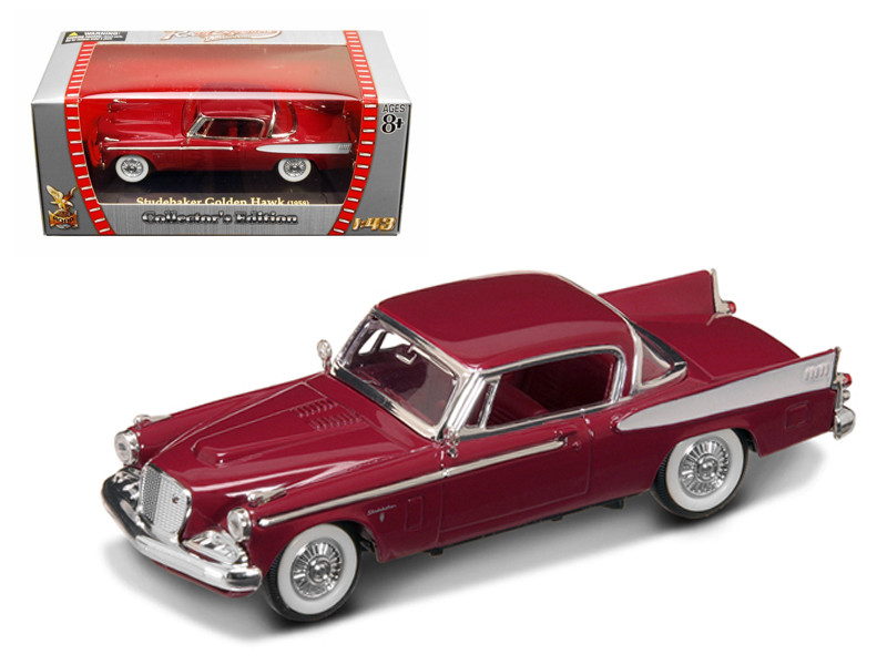 1958 Studebaker Golden Hawk Garnet/Burgundy 1/43 Diecast Car Model Road Signature 94254