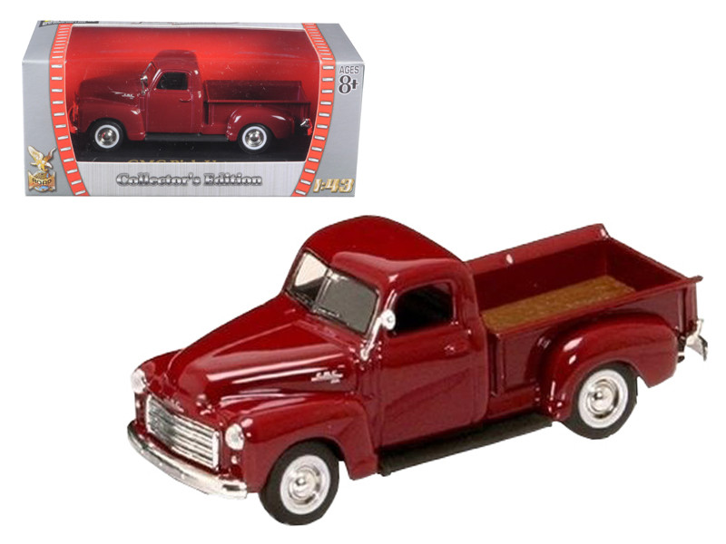 1950 GMC Pick Up Burgundy 1/43 Diecast Car Road Signature 94255