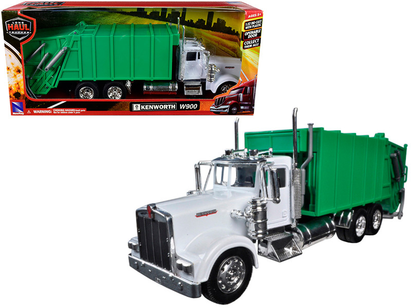 Kenworth W900 Garbage Truck 1/32 Diecast Model New Ray 10533