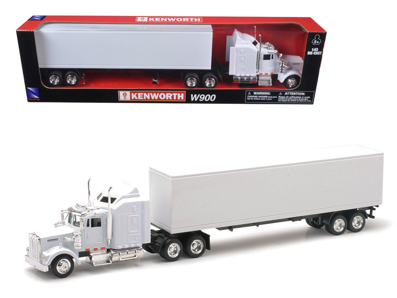 Kenworth W900 Plain White Unmarked 1/43 Model New Ray 15843