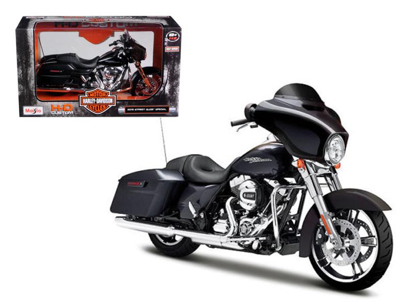 2015 Harley Davidson Street Glide Black 1/12 Motorcycle Model Maisto 32328