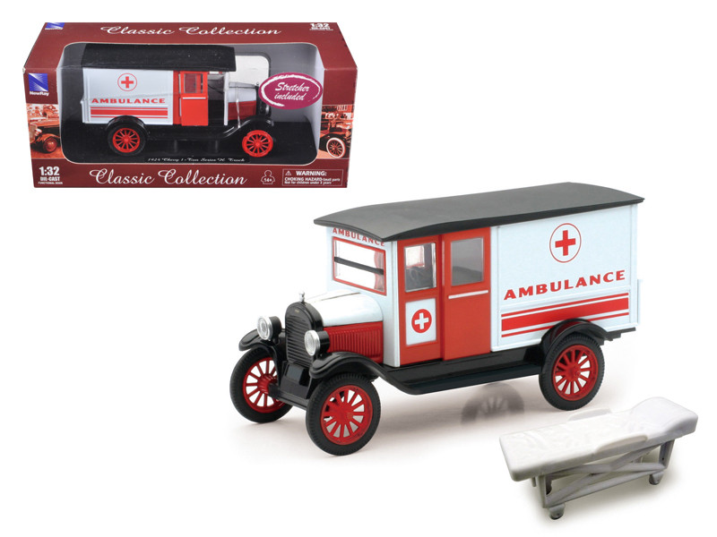 1924 Chevrolet Series H Ambulance 1/32 Diecast Model New Ray 55073