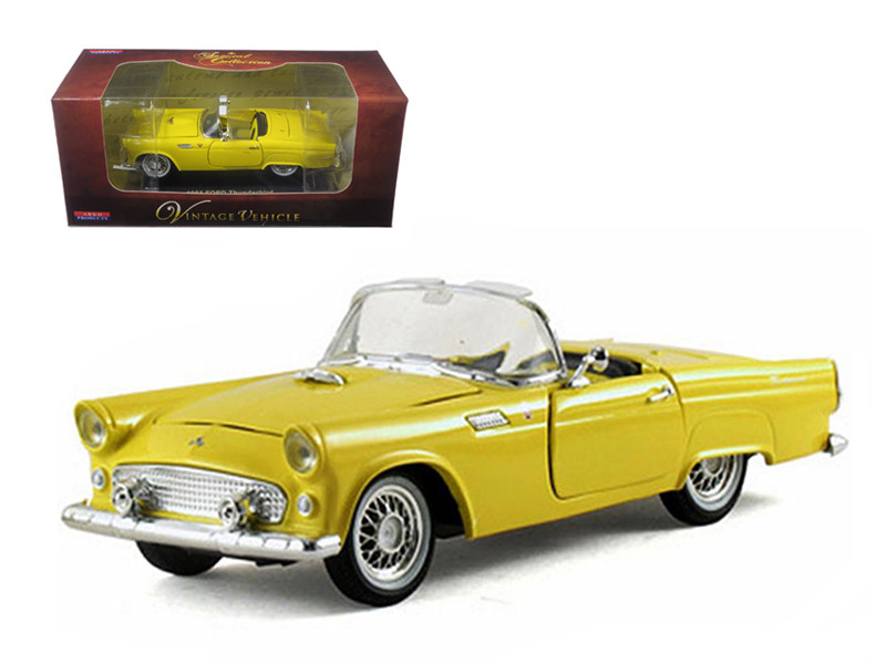 1955 Ford Thunderbird Convertible Yellow 1/32 Diecast Car Model Arko Products 05521
