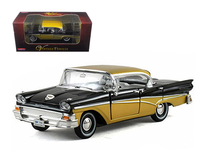 1958 Ford Fairlane Black 1/32 Diecast Car Model Arko Products 05861
