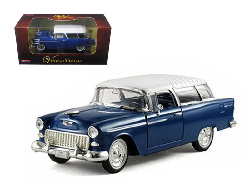 1955 Chevrolet Nomad Blue 1/32 Diecast Car Model Arko Products 35521
