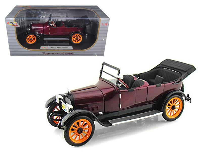1917 REO Touring Burgundy 1/18 Diecast Model Car Signature Models 18105