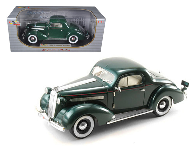 1936 Pontiac Deluxe Green 1/18 Diecast Model Car Signature Models 18106