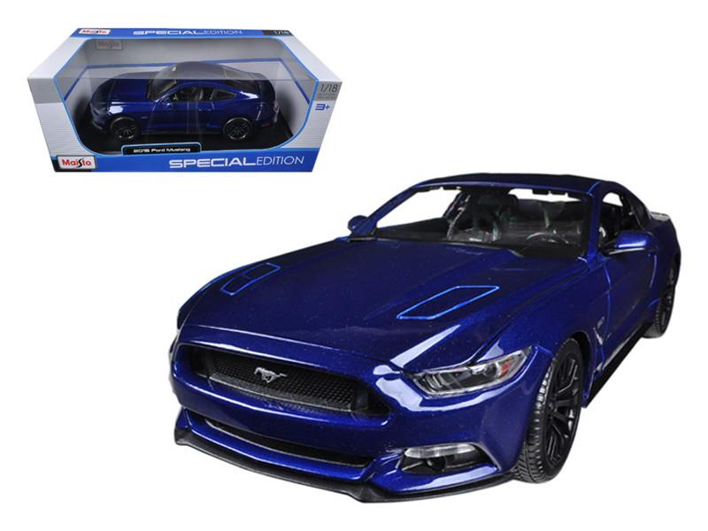 2015 Ford Mustang GT 5.0 Blue 1/18 Diecast Car Model Maisto 31197