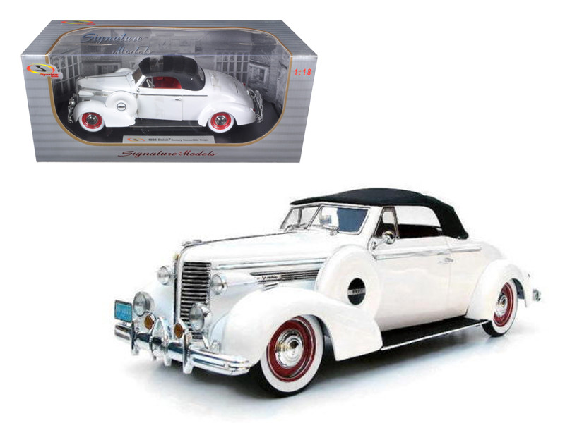 1938 Buick Century White 1/18 Diecast Car Model Signature Models 18131