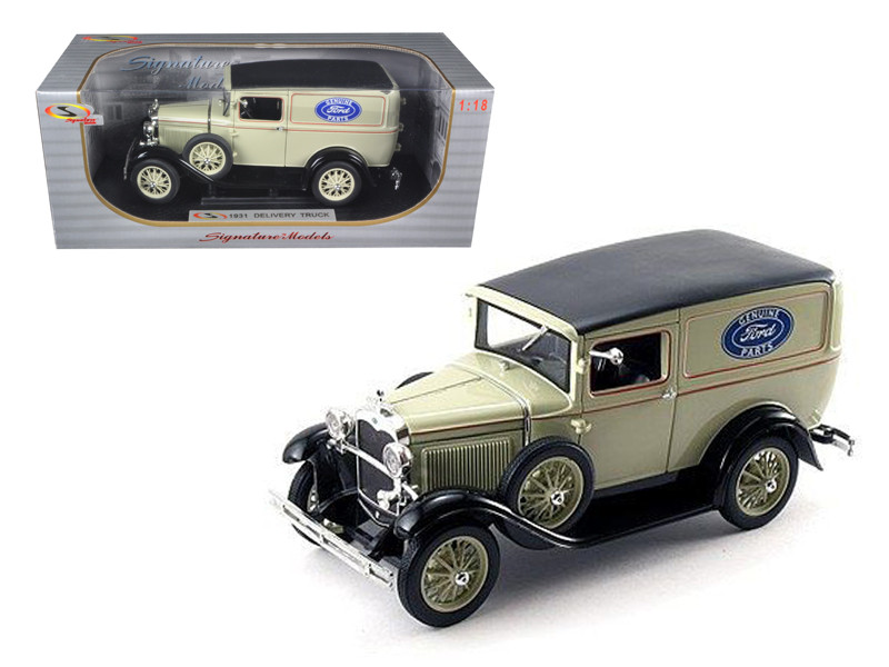 1931 Ford Model A Panel Delivery Truck 1/18 Diecast Model Car Signature Models 18137