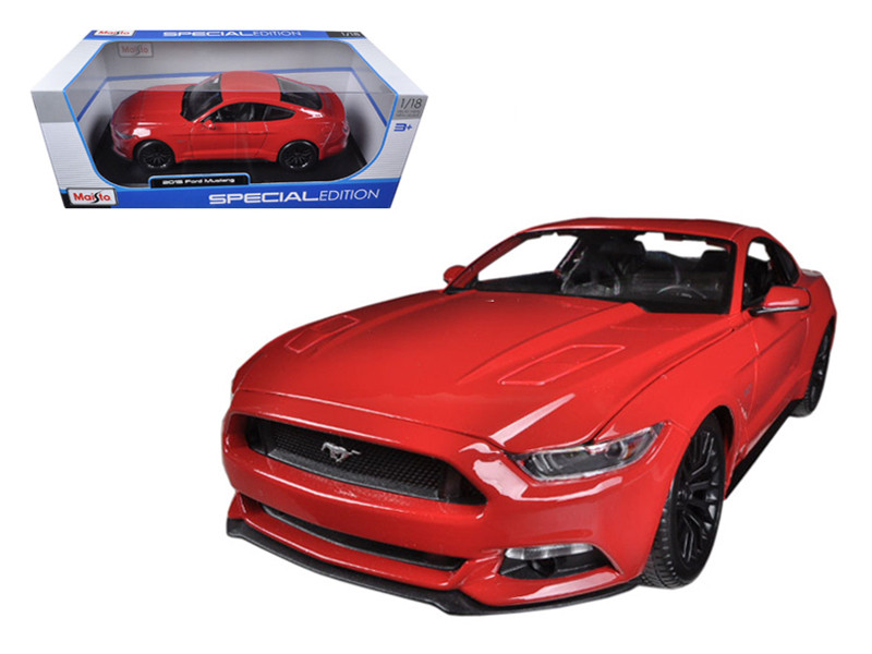 2015 Ford Mustang GT 5.0 Red 1/18 Diecast Car Model Maisto 31197
